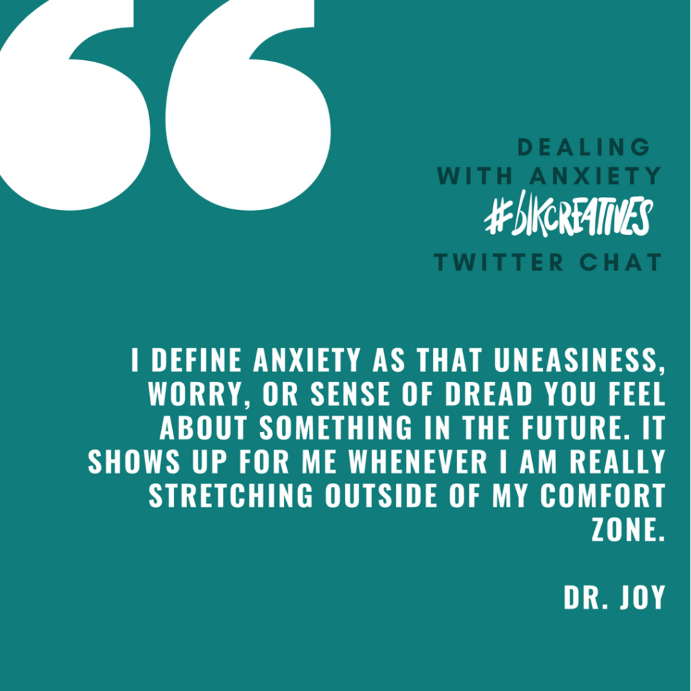 therapy for black girls #blkcreatives Twitter chat Dr. Joy Harden 3
