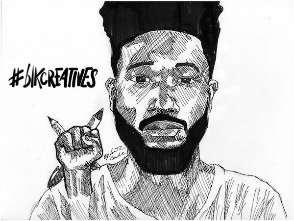 Charles Preston #blkcreatives artwork Jonathan Carradine