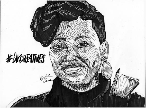 Evette Dionne #blkcreatives artwork Jonathan Carradine