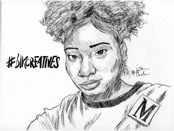 Gabrielle Imani MEFeater #blkcreatives artwork Jonathan Carradine