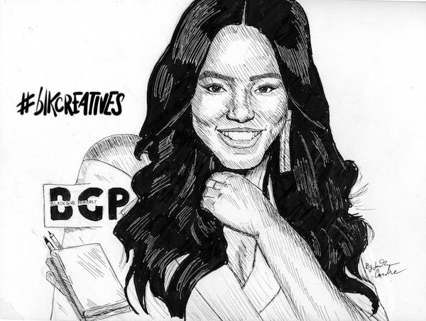 Gia Peppers #blkcreatives artwork Jonathan Carradine