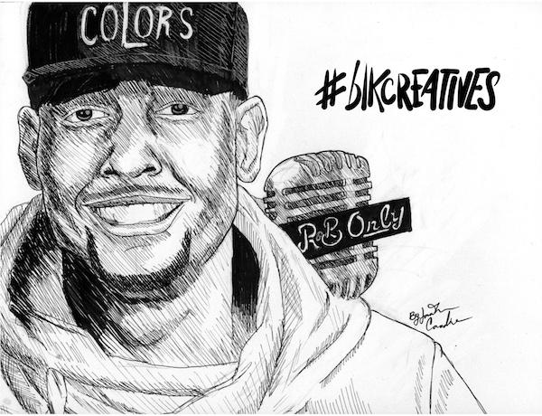 Jabari R&B Only #blkcreatives artwork Jonathan Carradine