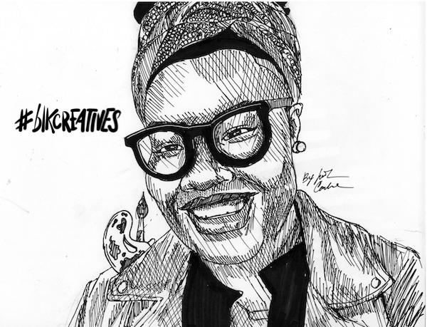 Jessica Rycheal #blkcreatives artwork Jonathan Carradine