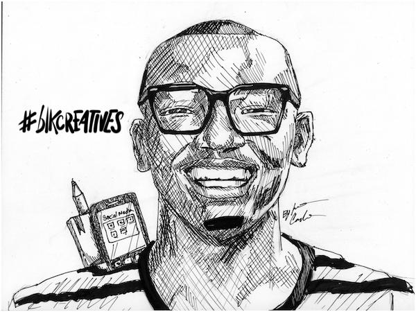 Julian Mitchell #blkcreatives artwork Jonathan Carradine