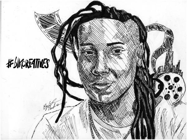 Lena Waithe #blkcreatives Artwork Jonathan Carradine
