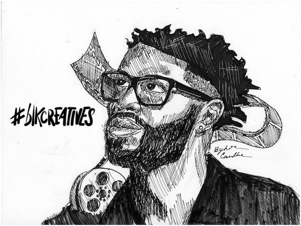 Matthew Cherry #blkcreatives artwork Jonathan Carradine