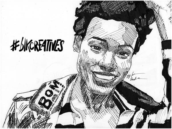 Michelle Dalzon #blkcreatives artwork Jonathan Carradine