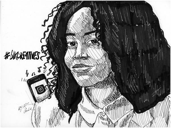 Shavone #blkcreatives artwork Jonathan Carradine