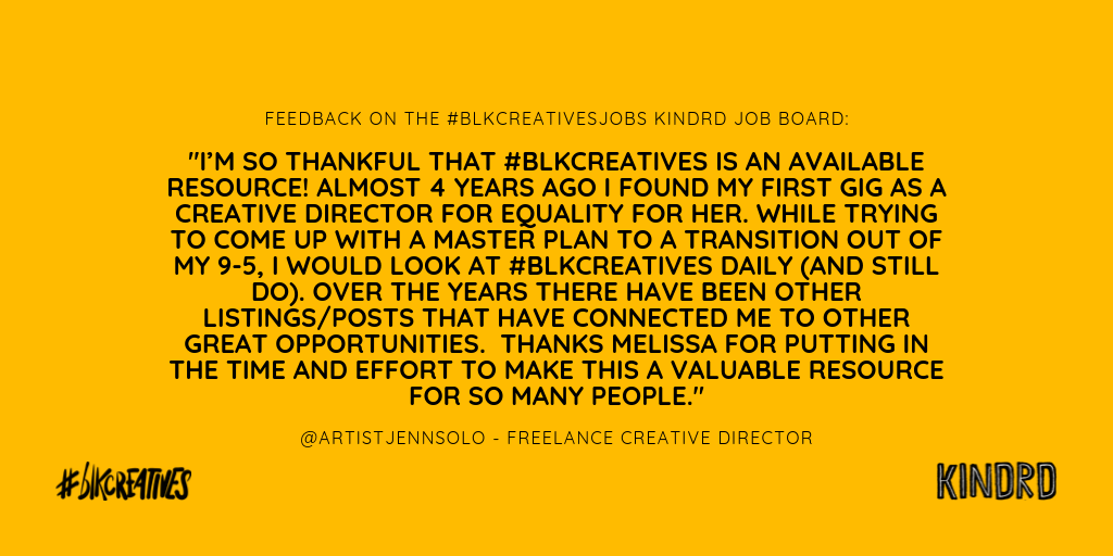 blkcreatives job board diverse candidates