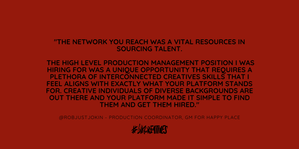 #blkcreatives job board hiring diverse talent 2