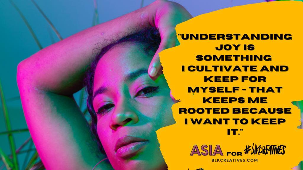 black joy #blkcreatives Twitter Chat Asia Horne