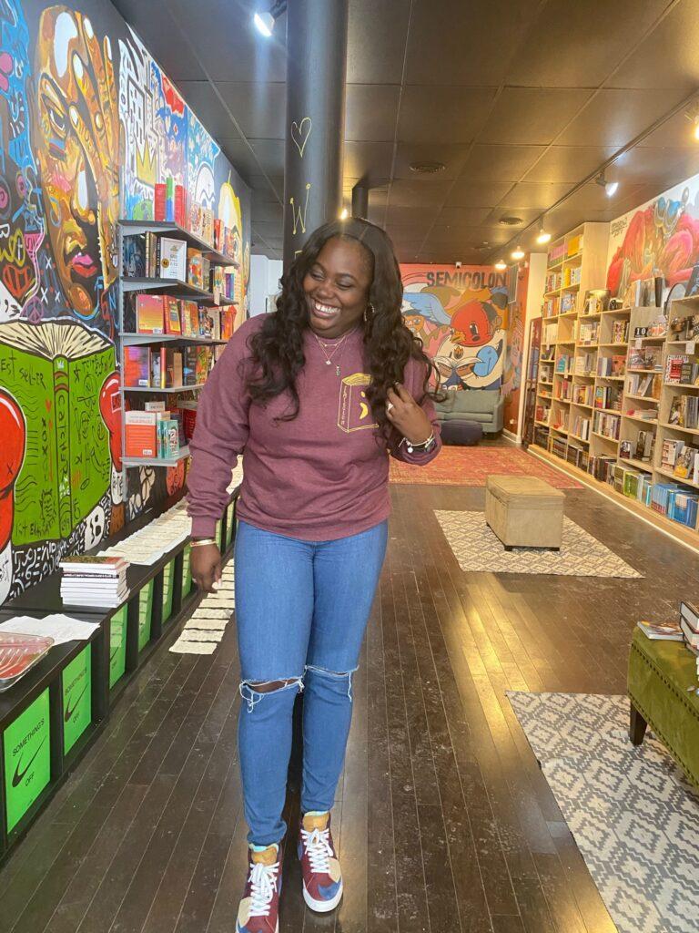 Danni Owner Semicolon Chicago bookstore #blkcreatives Square The Culture LP